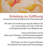 Einladung Physiotherapie